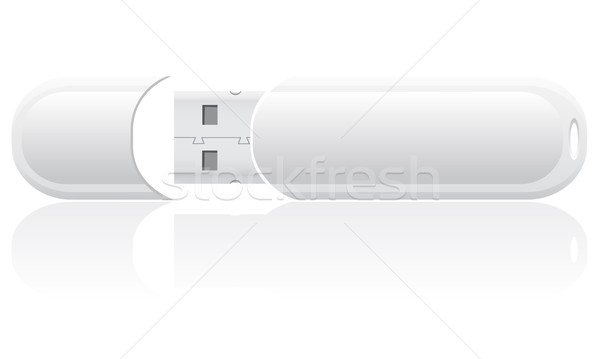 white blank usb flash vector illustration Stock photo © konturvid