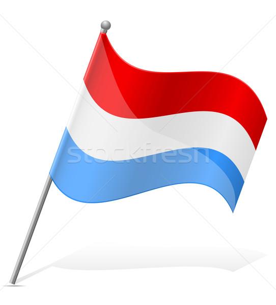 Vlag Luxemburg geïsoleerd witte wereld schilderij Stockfoto © konturvid