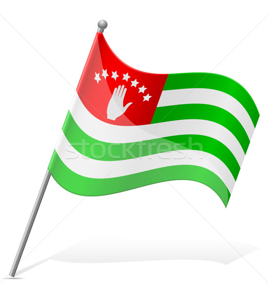 Bandeira isolado branco mundo terra viajar Foto stock © konturvid
