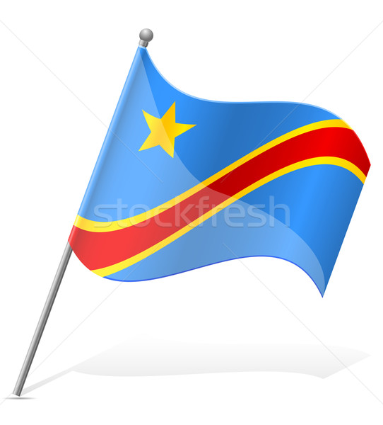 flag of Democratic Republic of Congo vector illustration Stock photo © konturvid
