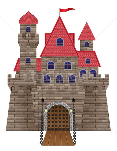 ancient old stone castle vector illustration Stock photo © konturvid