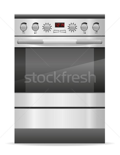 stove for kitchen vector illustration Stock photo © konturvid