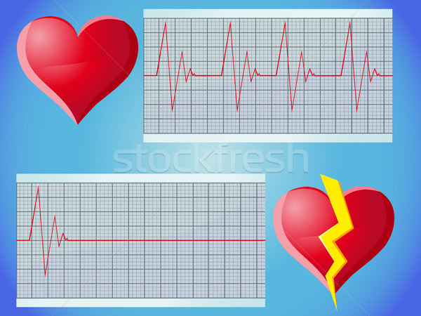 heart rate pulse Stock photo © konturvid