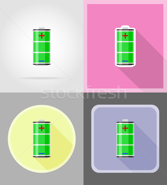 charge battery flat icons vector illustration Stock photo © konturvid