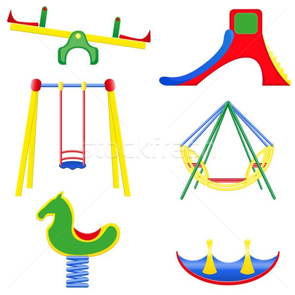 icons children teeter vector illustration Stock photo © konturvid