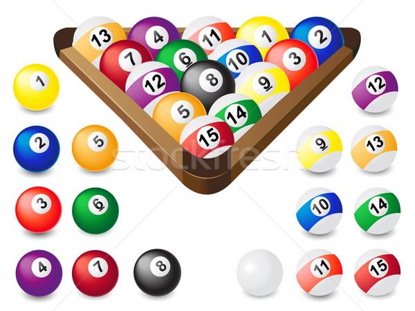 Kugeln Billard Sport Pool Ball Spiel Stock foto © konturvid