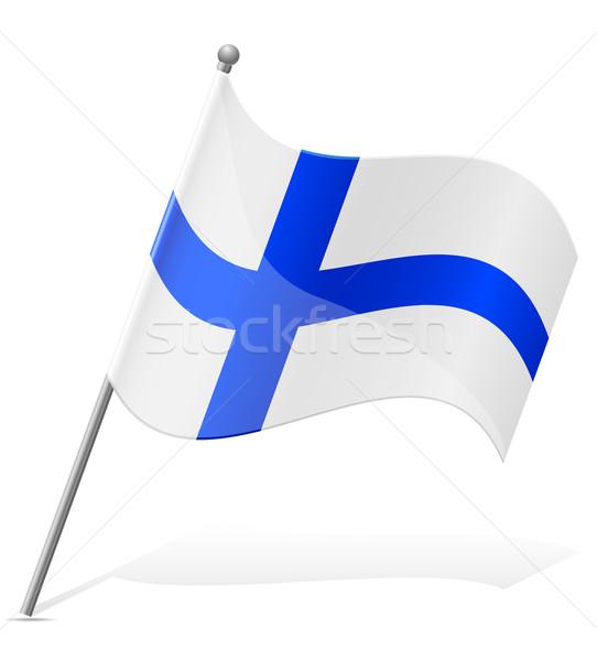 Bandiera Finlandia isolato bianco mondo pittura Foto d'archivio © konturvid