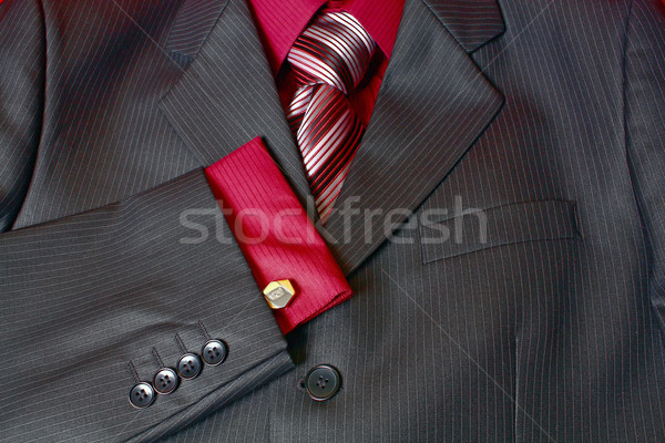 fragment man suit shirt and tie Stock photo © konturvid
