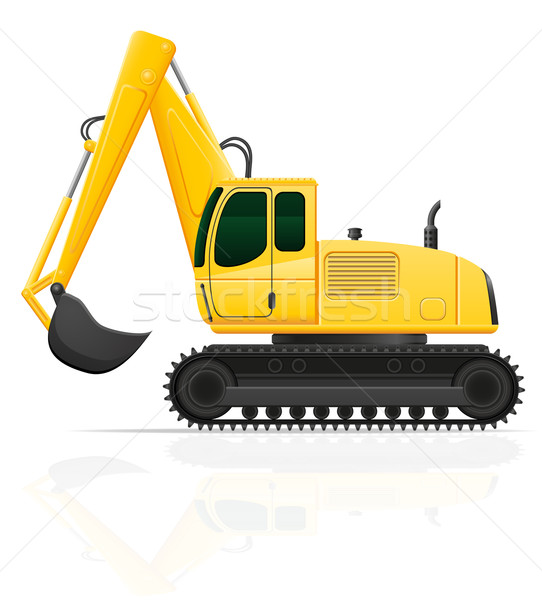 excavator for road works vector illustration Stock photo © konturvid