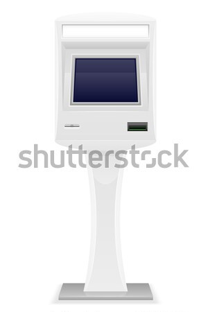 terminal for receiving cash payments vector illustration Stock photo © konturvid