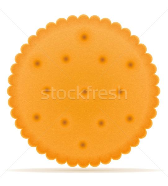 Crujiente galleta cookie aislado gris alimentos Foto stock © konturvid
