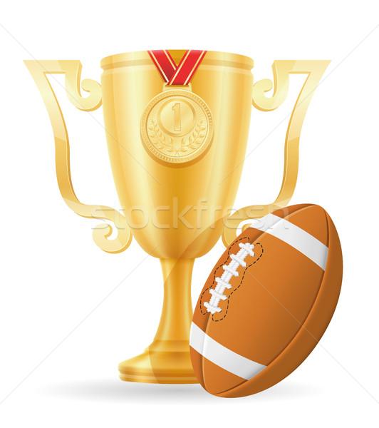 Stock photo: football cup winner gold stock vector illustration