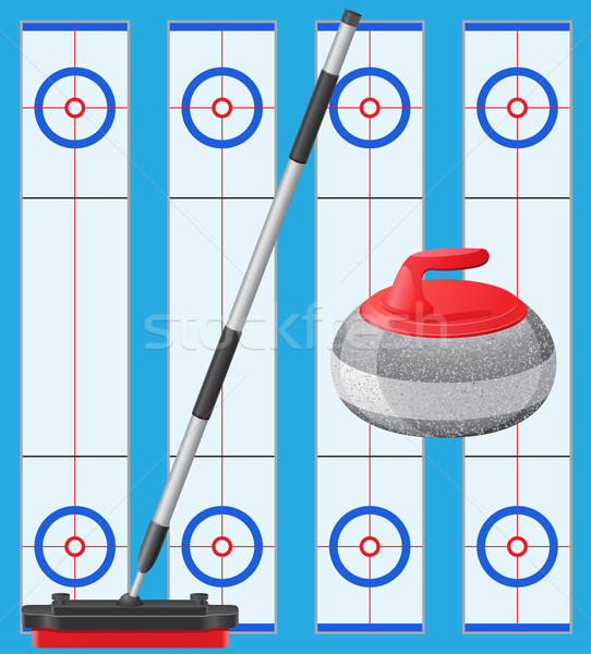 curling sport game Stock photo © konturvid