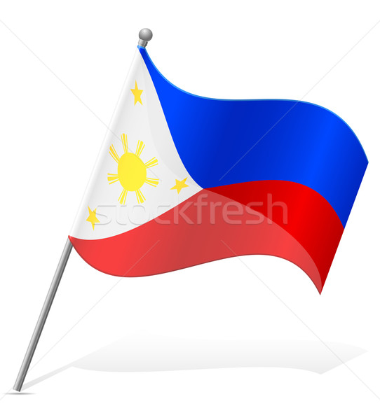 flag of Philippines vector illustration Stock photo © konturvid