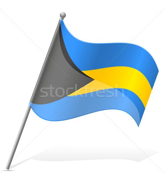 flag of Bahamas vector illustration Stock photo © konturvid