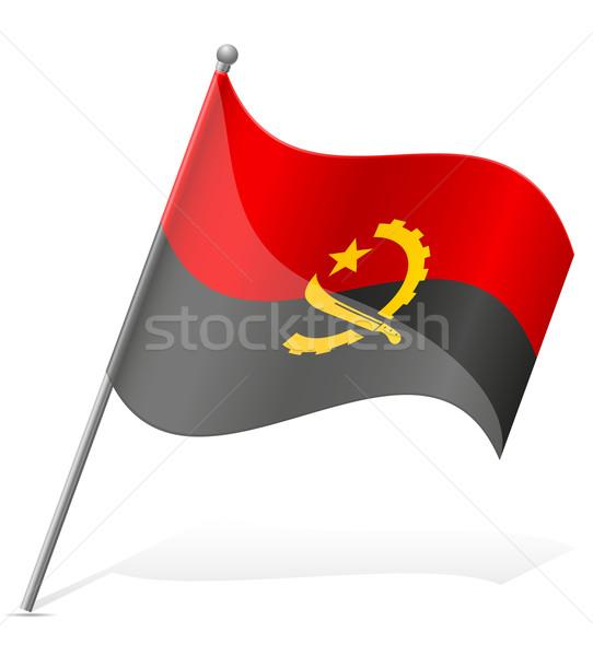 флаг Ангола изолированный белый мира Мир Сток-фото © konturvid