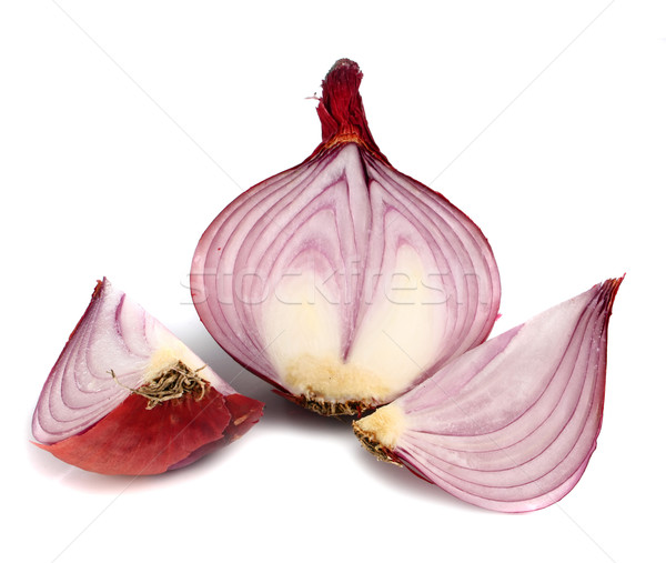 Photo stock: Oignon · saine · légumes · isolé · blanche · alimentaire