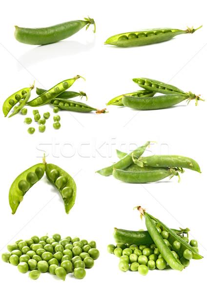 ストックフォト: 緑 · 孤立した · 白 · 食品 · 自然 · 夏
