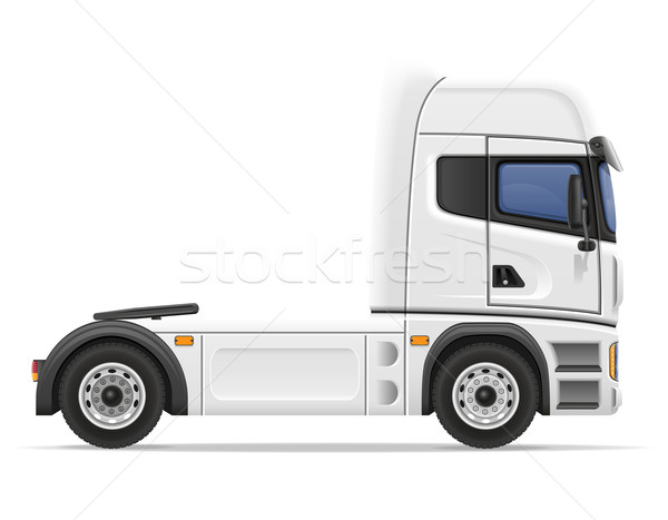 truck semi trailer vector illustration Stock photo © konturvid