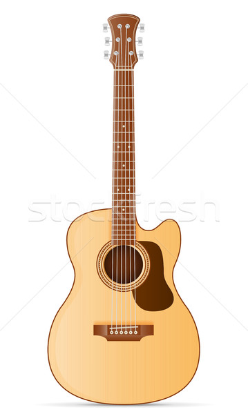Akoestische gitaar voorraad geïsoleerd witte muziek rock Stockfoto © konturvid