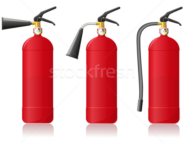 fire extinguisher vector illustration Stock photo © konturvid