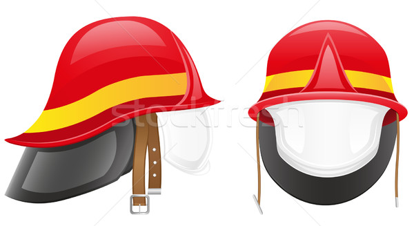 firefighter helmet vector illustration Stock photo © konturvid