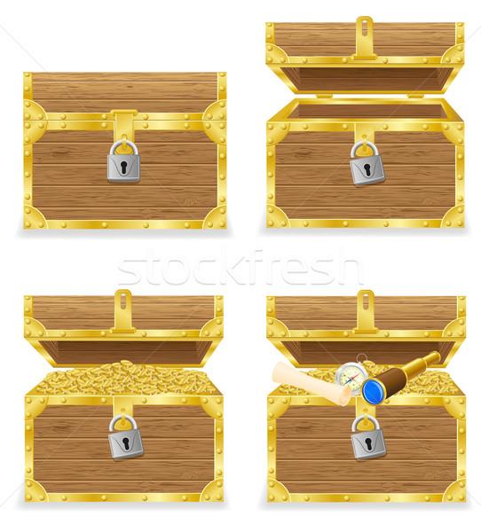 antique chest vector illustration Stock photo © konturvid