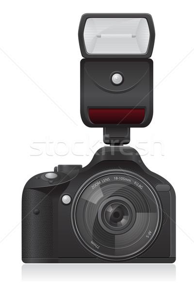 Foto fotocamera isolato bianco computer luce Foto d'archivio © konturvid