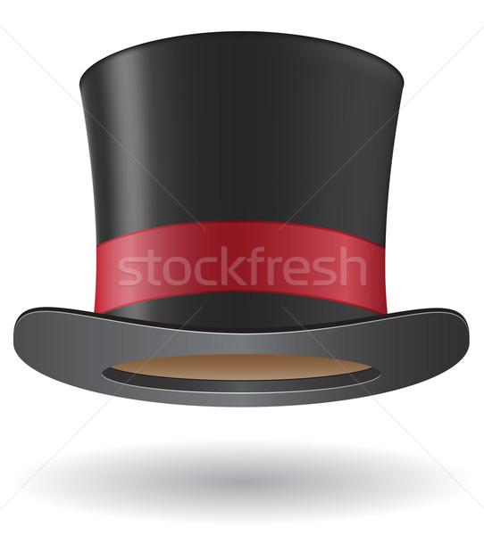 цилиндр Hat иллюстрация изолированный белый моде Сток-фото © konturvid
