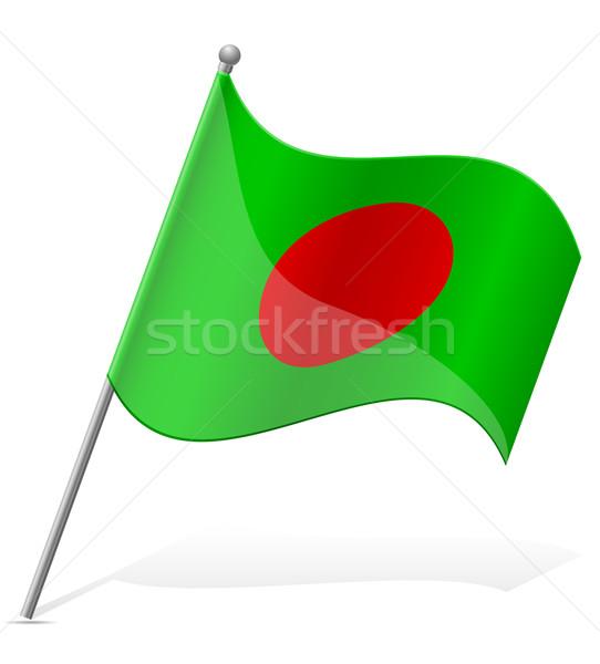 Bayrak Bangladeş yalıtılmış beyaz dünya toprak Stok fotoğraf © konturvid