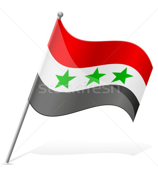 Vlag Irak geïsoleerd witte wereld aarde Stockfoto © konturvid