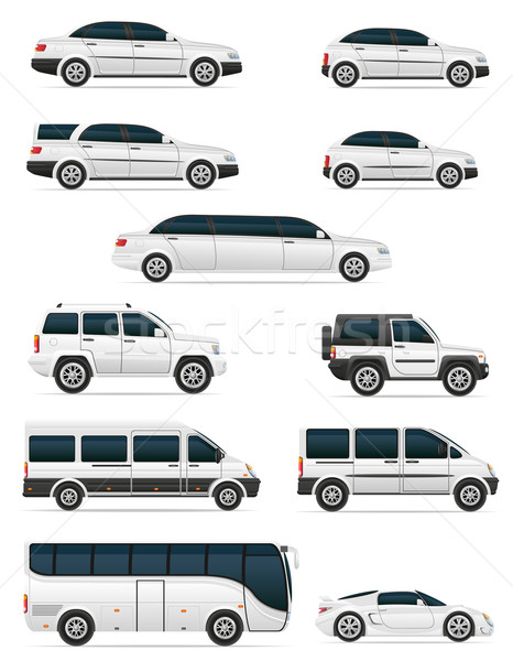 set of cars for the transportation passengers vector illustratio Stock photo © konturvid