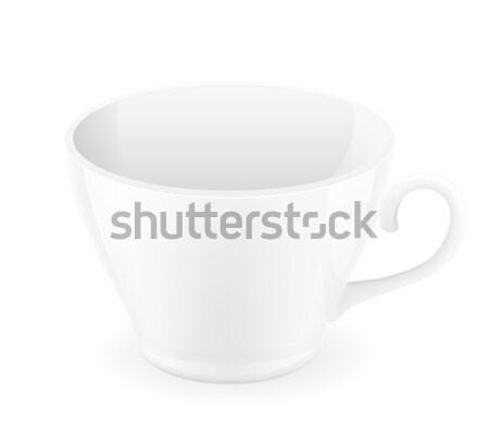Porcelán csésze izolált fehér kávé háttér Stock fotó © konturvid