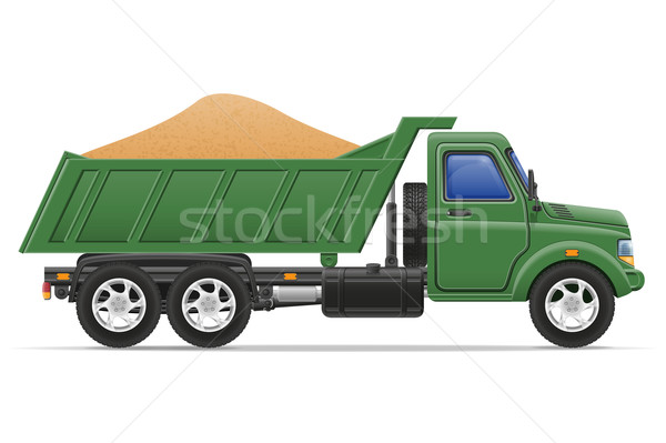 cargo truck delivery and transportation of construction material Stock photo © konturvid
