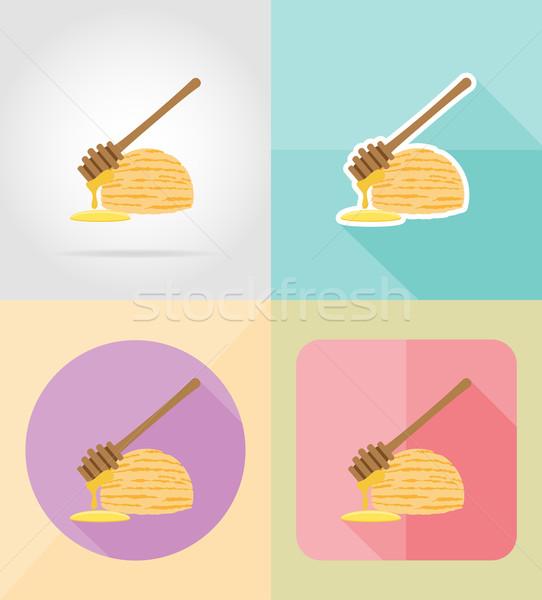 ice cream flat icons vector illustration Stock photo © konturvid