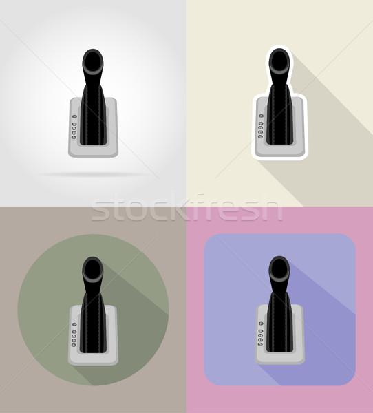 Autó viselet emelő ikonok izolált belső Stock fotó © konturvid