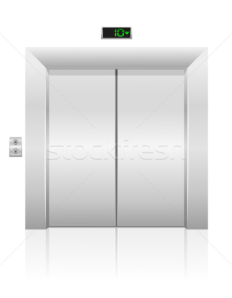 Stock photo: passenger elevator stock vector illustration