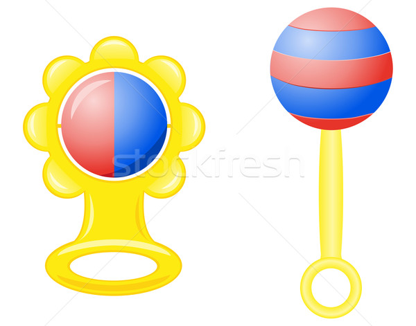 rattle for a newborn vector illustration Stock photo © konturvid