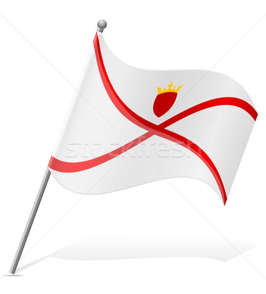 flag of Jersey vector illustration Stock photo © konturvid