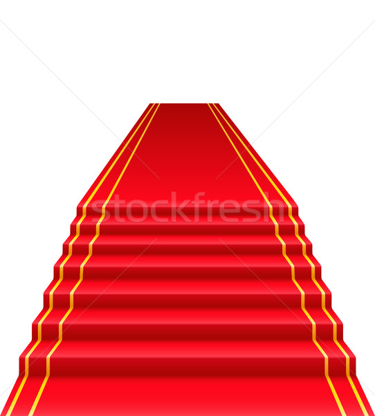 Stock photo: red carpet vector illustration