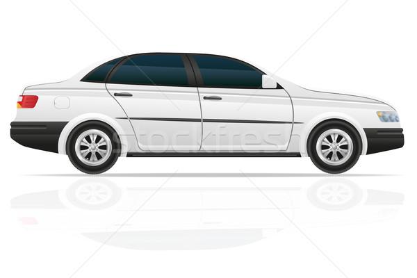 автомобилей седан изолированный белый технологий двери Сток-фото © konturvid
