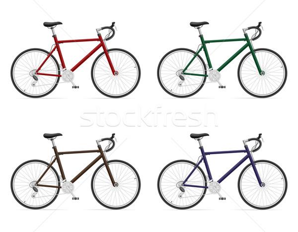 road bikes with gear shifting vector illustration Stock photo © konturvid
