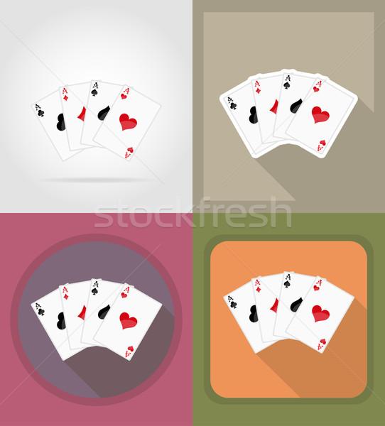 Photo stock: Casino · objets · équipement · icônes · illustration · isolé