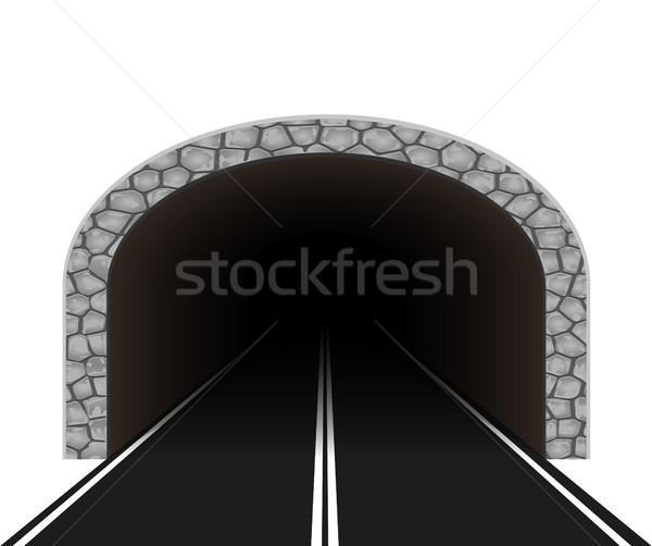 Automobile tunnel route voiture rue design Photo stock © konturvid