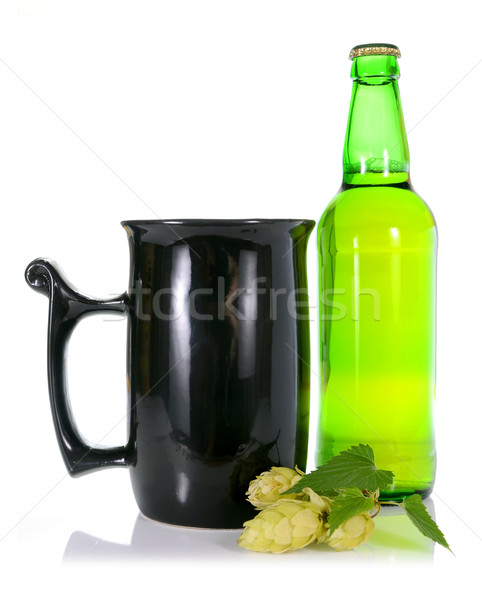 Bier hop geïsoleerd witte glas zomer Stockfoto © konturvid