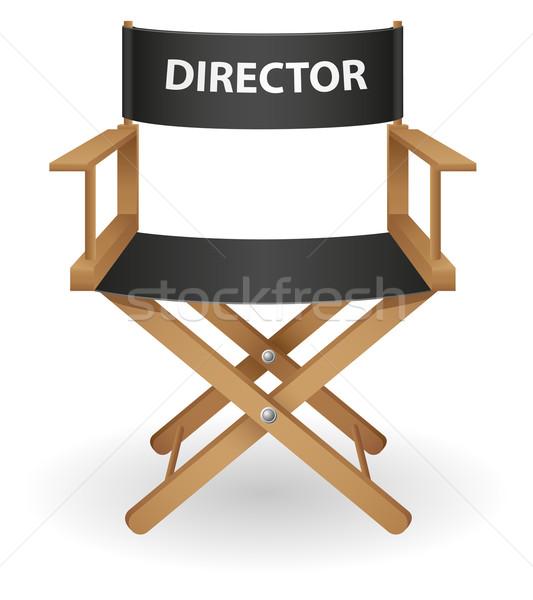 Direktor Film Stuhl isoliert weiß Film Stock foto © konturvid
