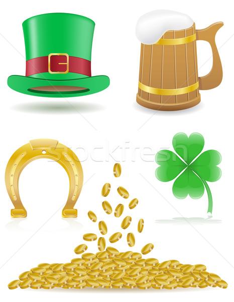 set icons St. Patrick`s day vector illustration Stock photo © konturvid