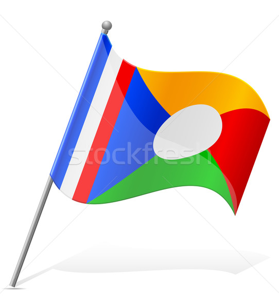 flag of Reunion vector illustration Stock photo © konturvid