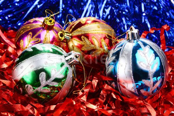 Photo stock: Décorations · nouvelle · année · Noël · maison · arbre · verre