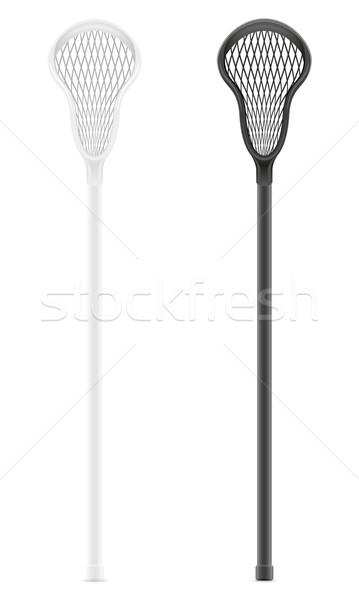 lacrosse sticks vector illustration Stock photo © konturvid